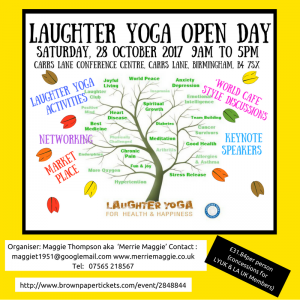 Laughter Yoga Open Day Poster